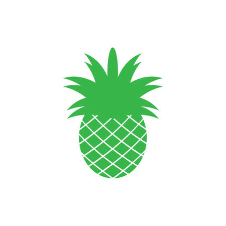 Pineapple Tropical Fruit Vector Illustration.Pineapple logo template vector illustration