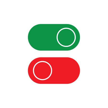 On Off Button Icon Vector Design Illustration Illustration