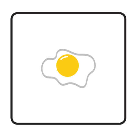 omelet icon. egg icon vector illustration Vettoriali