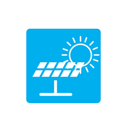 Solar logo energy icon vector design