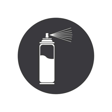 spray paint  vector illustration icon Logo Template design Banco de Imagens - 139831899