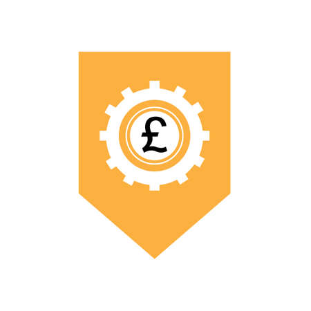 modello di progettazione dell'illustrazione dell'icona di vettore dei soldi della libbra - vector Vettoriali