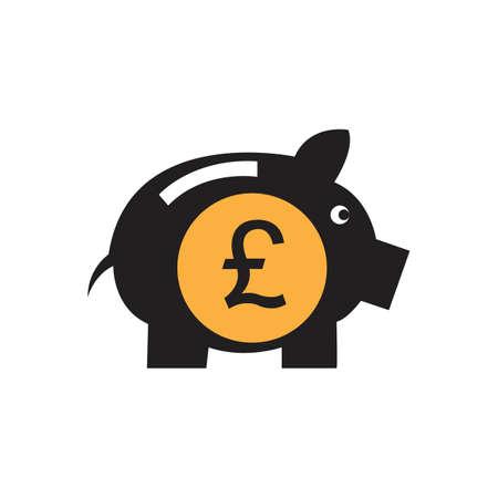 pound money vector icon illustration design template - vector 向量圖像