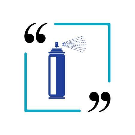 spray paint vector illustration icon Template design