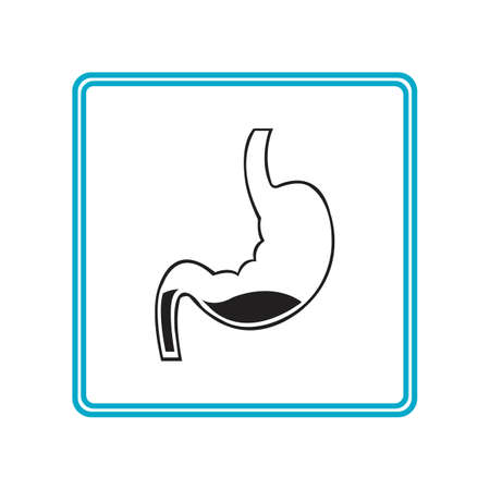 Stomach Icon Vector Illustration template