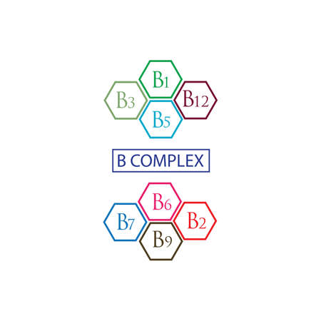 B complex vector icon illustration design template