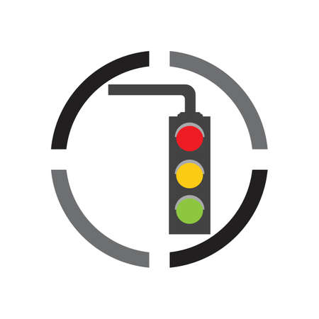Traffic Light Icon Vector Design Template Traffic light signal - Vector icon
