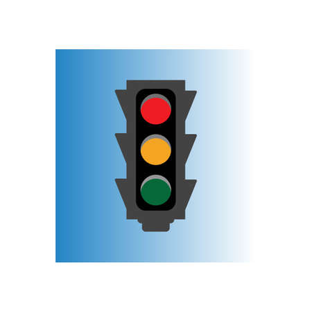Traffic Light Icon Vector Design Template