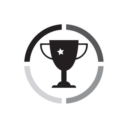 trophy icon vector illustration design template
