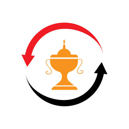trophy icon vector illustration design template Archivio Fotografico - 140181569