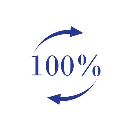 100 percent icon vector illustration design template