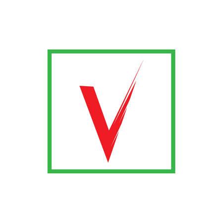check mark icon vector illustration design template Illustration