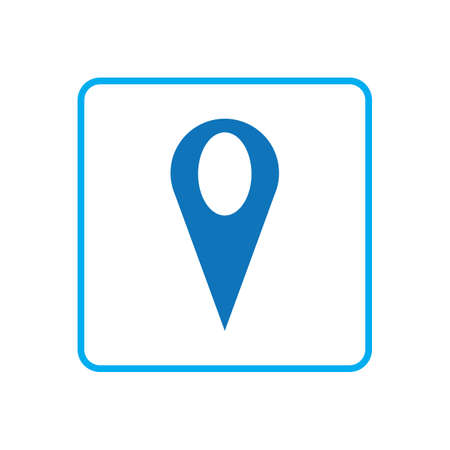 map point location pin vector icon for mapping and satellite allocation Ilustrace