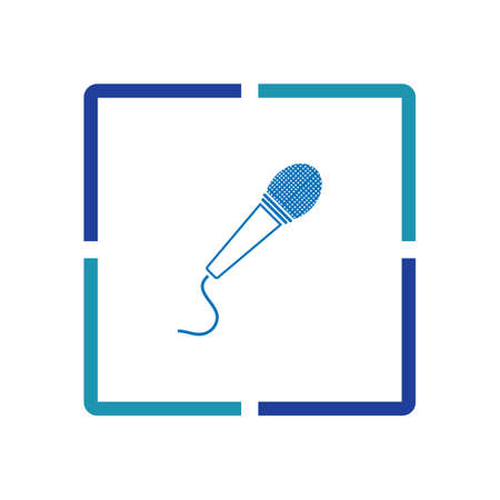 Microphone icon graphic design template illustration vector