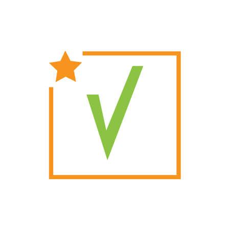 check mark icon vector illustration design template Ilustrace