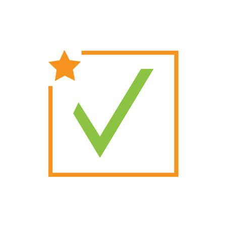 check mark icon vector illustration design template Фото со стока - 140632909