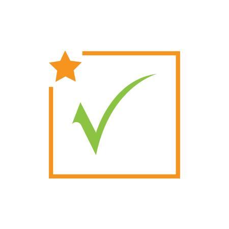 check mark icon vector illustration design template Stock Illustratie