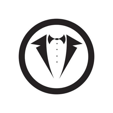 Tuxedo Logo template vector icon illustration design - Vector