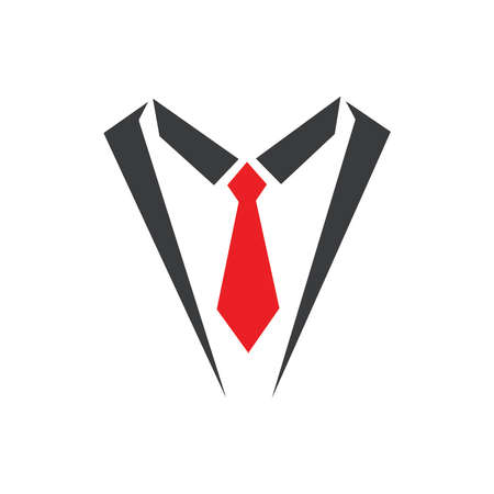 Tuxedo Logo template vector icon illustration design - Vector Ilustração
