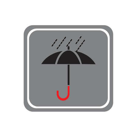 umbrella icon vector illustration template design Vector Illustration