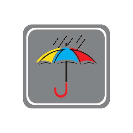 umbrella icon vector illustration template design