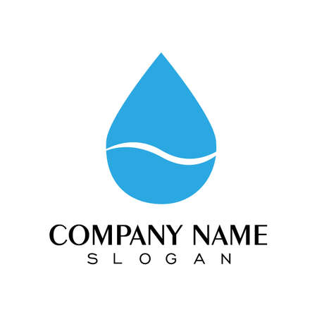 water drop Logo Template vector illustration design Иллюстрация