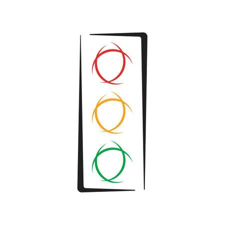 Traffic Light Icon Vector Design TemplateTraffic light signal - Vector icon