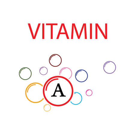 Vitamin A multi supplement icons vector illustration design template