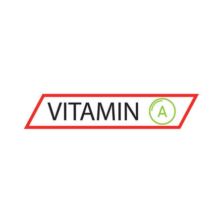 Vitamin A multi supplement icons vector illustration design template Ilustração Vetorial
