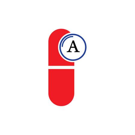 Vitamin A multi supplement icons vector illustration design template
