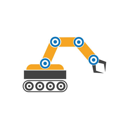 Industrial mechanical robot arm icons