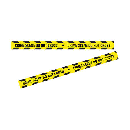 Black and yellow police stripe illustration design