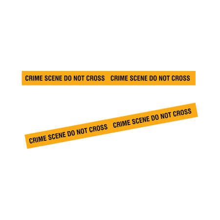 Black and yellow police stripe illustration design