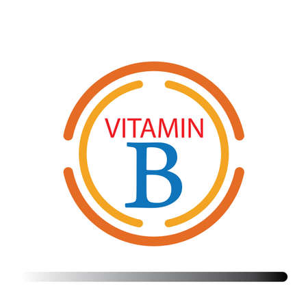 Vitamin B logo icons vector illustration design template