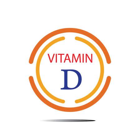 vitamin D logo icon vector illustration design template