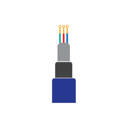 optic fiber cable vector icon illustration design template