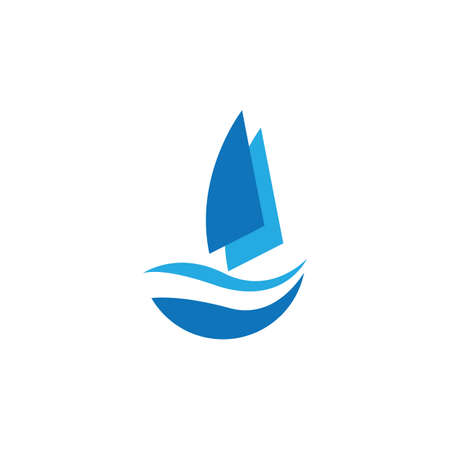 sailing logo vector icon concept illustration design template