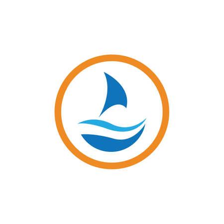 sailing logo vector icon concept illustration design template