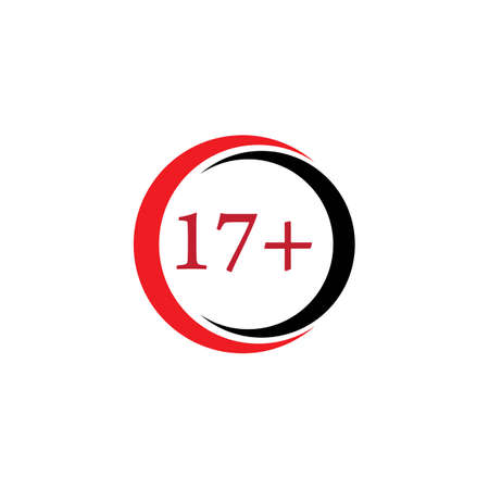 17 plus icon illustration  vector sign symbol