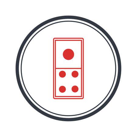 Domino Vector illustration,domino card icon template vector illustration design Vectores