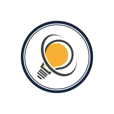 light bulb symbol vector design illustration