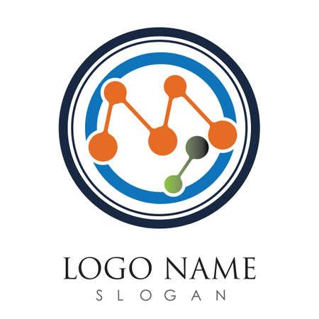 molecule logo vector icon illustration design template