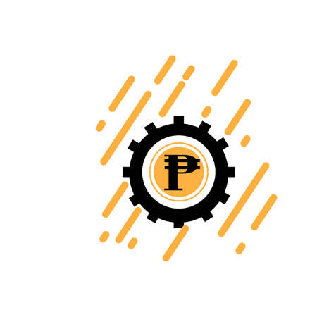 philippines banking currency symbol, peso vector icon