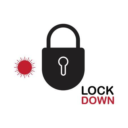 Lockdown design vector. icon lockdown. Global pandemic health warning concept