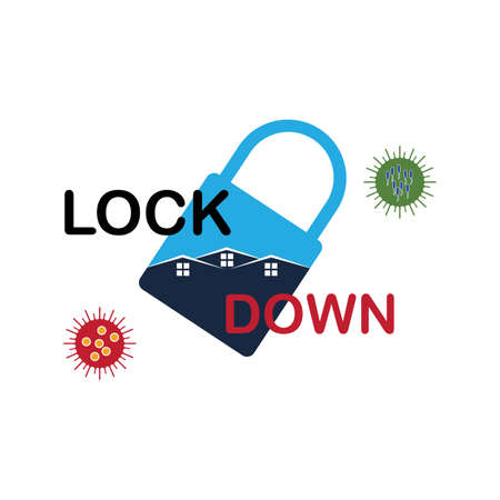 Lockdown  design vector. icon lockdown. Global pandemic health warning concept