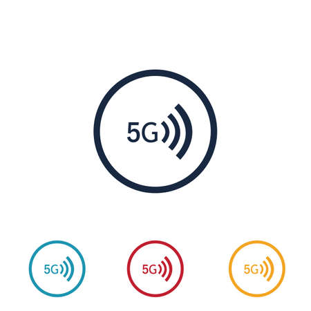 5g sign vector template Vector technology icon network sign 5G