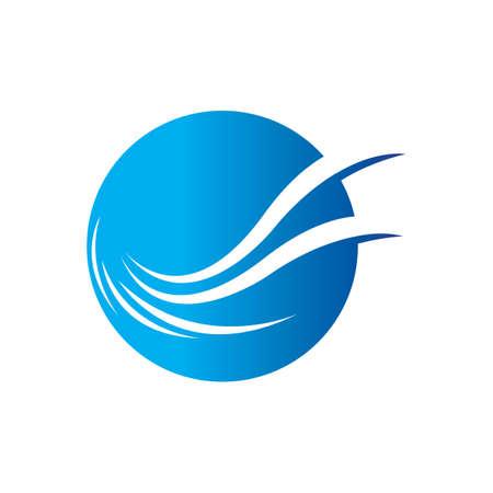 Water wave icon vector illustration design logo Logo