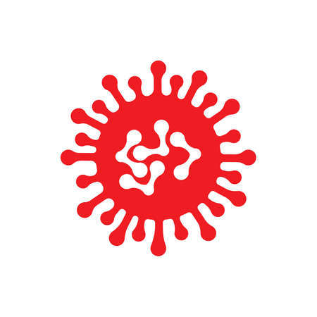 bacteria, microbes and viruses logo vector icon illustration design template Logo