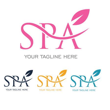 modèle de conception d'illustration vectorielle de logo de spa