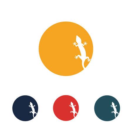 Lizard vector icon logo and symbols template - Vector